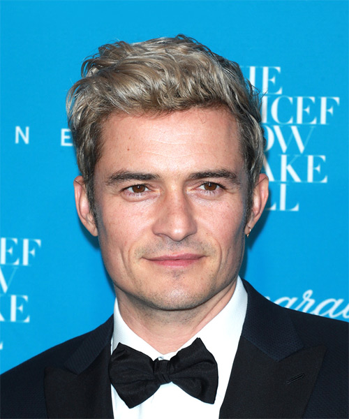 Orlando Bloom Short Wavy Casual    Hairstyle   –  Blonde Hair Color