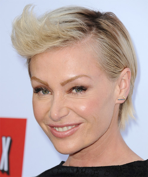 Portia De Rossi Short Straight Formal    Hairstyle   - Light Blonde Hair Color - Side on View