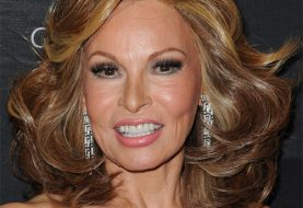 Raquel Welch Medium Wavy Formal    Hairstyle   -  Brunette Hair Color with Dark Blonde Highlights