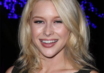 Renee Olstead Medium Wavy Casual Hairstyle  - Light Blonde Hair Color