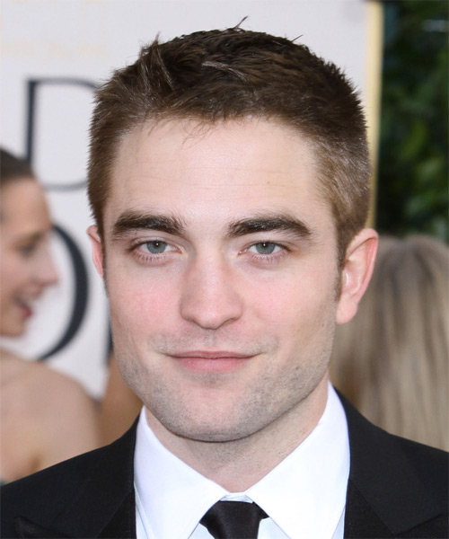 Robert Pattinson Short Straight Casual    Hairstyle   -  Brunette Hair Color