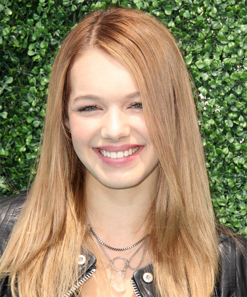 Sadie Calvano Long Straight Casual  Hairstyle – Blonde Hair Color