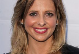 Sarah Michelle Gellar Medium Straight Casual    Hairstyle   - Light Brunette and  Blonde Two-Tone Hair Color