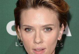 Scarlett Johansson Short Straight Casual  Pixie  Hairstyle with Side Swept Bangs  - Dark Golden Blonde Hair Color