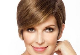 Short Straight Formal    Hairstyle   - Light Brunette Hair Color