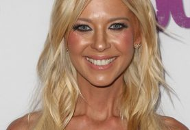 Tara Reid Long Straight Casual    Hairstyle   - Light Honey Blonde Hair Color