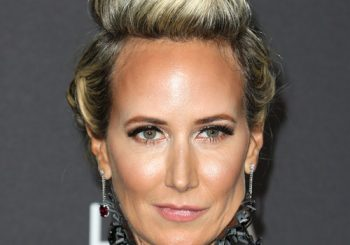 Victoria Hervey Long Wavy Formal   Updo Hairstyle   - Light Blonde Hair Color